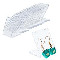 Organic Glass Earring Displays, L-Shaped Earring Display Stand, Clear, 3.5x3.4x2.7cm