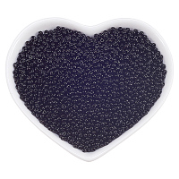 ORNALAND 12/0 Glass Seed Beads, Baking Varnish, Opaque Colours, Round, Black, 2x1.5mm, Hole: 0.3mm; about 11200pcs/bag