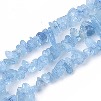 ARRICRAFT Natural Aquamarine Beads Strands, Chip, Grade A, 5~15x5~10x2~7mm, Hole: 1mm, about 130~140 pcs/Strand, 15.75 inches(40cm)
