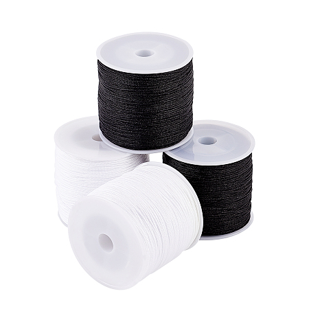 Arricraft Nylon Thread Nylon String, for Beading Jewelry Making, Mixed Color, 0.8mm; about 100m/roll, 2 colors, 2rolls/color, 4rolls
