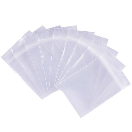 BENECREAT 200 Pack 6 Mil Clear Resalable Heavy Duty Plastic Reclosable Zipper Bags - 1.5