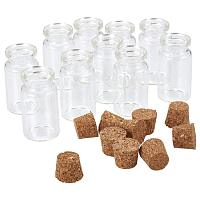ARRICRAFT 10pcs 40x22mm Clear Tampons Glass Wishing Bottles Vials with Cork Bead Containers