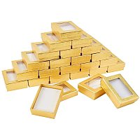 """NBEADS 24 Pcs 3.54""""x2.55""""x1.1""""Gift Presentation Boxes with Padding Inside, Golden Color Rectangle Valentine's Day Presents Packages Cardboard Jewelry Set Boxes for Necklaces Earrings Rings Bracelets"""