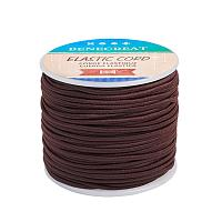 BENECREAT 2mm 55 Yards Elastic Cord Beading Stretch Thread Fabric Crafting Cord for Jewelry Craft Making (Coffee)