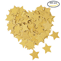 PandaHall Elite 300PCS Gold Twinkle Glitter Stars Confetti Cake Toppers Tissue Paper Party Table Confetti for Wedding Sprinkles Birthday Party Festival Decoration