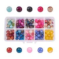 NBEADS 1 Box of 200PCS 8mm Mixed Color Faceted Natural Agate Beads Gemstone Beads Round Stone Beads for Jewelry DIY Bracelet