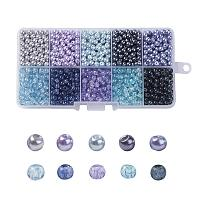ARRICRAFT 6mm 500pcs Round Baking Painted Crackle Glass beads and Glass Pearl Beads 10 Color Assorted Lot For Jewelry Making