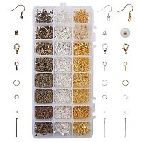 NBEADS 4301pcs Jewelry Making Findings Supplies Kit with Earring Hooks, Lobster Claw Clasps, Crimp Beads, Pinch Bails, Jump Rings, Headpins, Earnuts, Ring Tools, Mixed Color