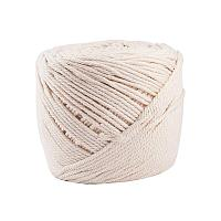 BENECREAT 3mm x 220 Yards(656 ft.) Macrame Cord 100% Natural Cotton Rope 4-Strand Twisted Cotton Cord for Handmade Plant Hanger Wall Hanging Craft Making, Ivory