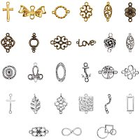 NBEADS About 88 Pcs Tibetan Style Alloy Connector, Random Mixed Tibetan Style Links Alloy Bracelet Necklace Earring Link Charms for DIY Crafts Making