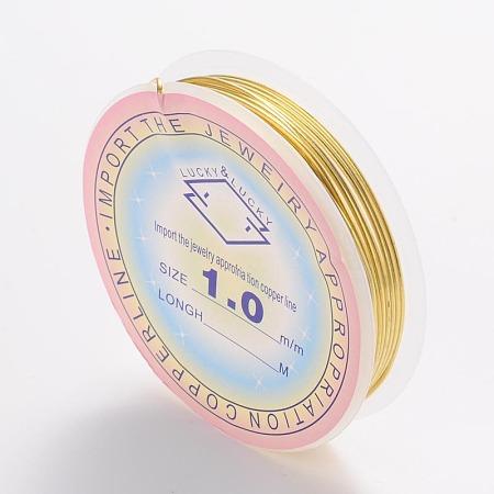 ARRICRAFT 10 Roll 1mm Copper Wire Jewelry Beading Wire Golden 18 Gauge for Crafting Beading Jewelry Making 2.5m per Roll