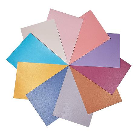 NBEADS 2 Bag 40 Sheets/Bag Metallic Cardstock Paper Cardstock Paper for Crafting, Invitations, Scrapbooking, Mixed Color, About 21cm Wide, 29.7cm Long