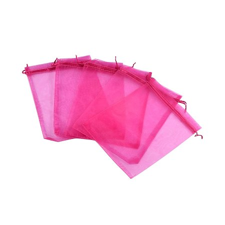 NBEADS 200pcs 17x23cm Orchid Satin Drawstring Organza Pouches Wedding Party Favor Gift Jewelry Watch Bags