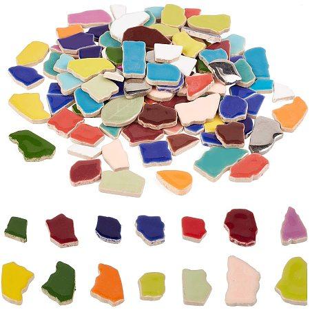 PandaHall Elite Mosaic Tiles Ceramic Mosaic Pieces Supplies for Home Decoration Garden DIY Arts & Craft, 0.55lb