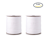NBEADS 2 Rolls 91m/roll White Raffia Paper Ribbon Twine Packing String Craft Ribbon for DIY Jewelry Making,, Gift Box Decoration, Craft DIY Supply and Wrapping Hanging Tags