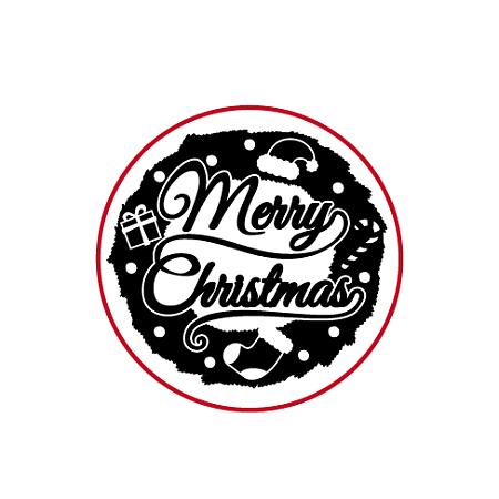 DIY Scrapbook, Brass Wax Seal Stamp Head, Word Merry Christmas , Golden, 25x14mm