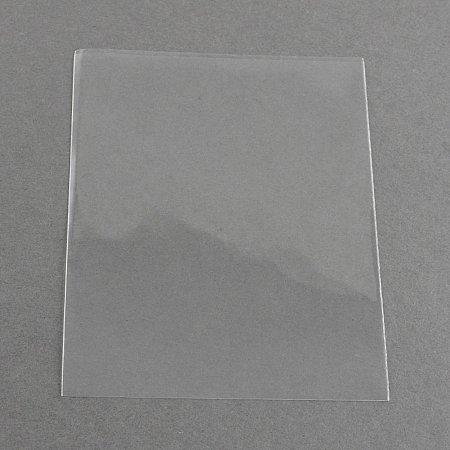 NBEADS 1000pcs OPP Cellophane Bags, Rectangle, Clear, 10x8cm