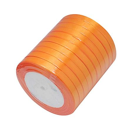 NBEADS 10 Rolls of 6mm Orange Satin Ribbon Double Sided Fabric Ribbon Silk Satin for Crafts Gift Wrapping Floristry Wedding Party Decoration