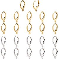 NBEADS 20 Pairs Earring Hooks, Lever Back Earring Round French Hook Ear Wire with Open Loop for Earring Designs Jewelry Making