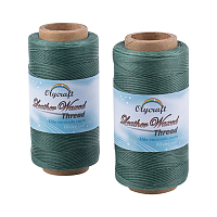 Olycraft Waxed Polyester Cord, Teal, 0.8mm; about 260m/roll