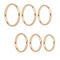 Unicraftale 304 Stainless Steel Finger Rings, Golden, Size 4~9, 14~19mm; 12pcs/box