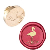 PandaHall Elite Flamingo Sealing Stamp Head, Vintage Retro Animal Wax Seal Stamp Head for Letter Envelope Party Invitation Wine Packages Birthday Embellishment Gift Decoration