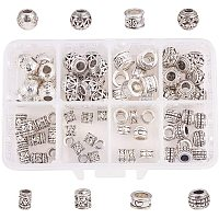 NBEADS Alloy European Beads, Mixed Shapes, Antique Silver, 11x7x3cm