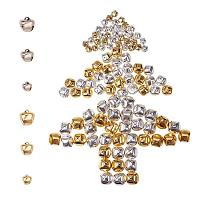 PandaHall Elite About 460pcs 2 Colors 3 Sizes Iron Craft Jingle Bells Mini Small Bell  Charms Loose Beads or Christmas, Party Decorations Jewelry Making (Golden and Platinum)