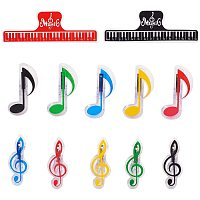 Arricraft 12pcs 3 Styles Music Note Clips Music Book Music Page Holder Plastic Music Stationary Memo Message Clips for Notes Stationery Files Archive Folder
