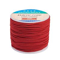 BENECREAT 2mm 55 Yards Elastic Cord Beading Stretch Thread Fabric Crafting Cord for Jewelry Craft Making (Dark Red 2)