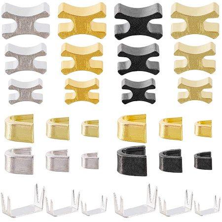 PandaHall Elite 60 Sets Zipper Bottom Stops Top Stops(#3#5#8, 4 Color) with 15 Sets Zipper Stopper for Nylon Zipper Slider Retainer for Zipper Replacement Repair Kit