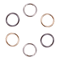 PandaHall Elite 6 Pcs 1-9/10 Inch Spring O Ring Round Carabiner Snap Clip Hook Trigger Spring Keyring Buckle 3 Colors for Bags, Purses, Keychain