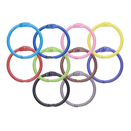 PandaHall Elite 50pcs 10 Colors Iron Loose Leaf Binder Rings Office Book Rings Key Rings O-Rings for School Home Office Scrapbooking Notebook Diary Photo Album (31mm)