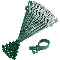 Reusable Plastic Plant Cable Ties, Adjustable Plant Twist Ties, Garden Tool, Green, 250x28x4mm