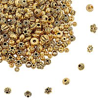 NBEADS About 100g Tibetan Style Alloy Spacer Beads,20 Styles Random Mixed Metal Flower Cone Round Column Spacer Beads for DIY Jewelry Craft Making