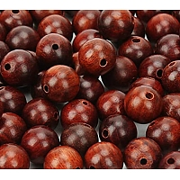 SUNNYCLUE Natural Wood Beads, Round, Coconut Brown, 7.5~8mm, Hole: 1mm; 200pcs/box