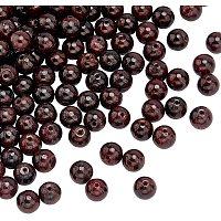 Olycraft Natural Garnet Beads Strands, Round, 6.5mm, Hole: 1mm; about 63pcs/Strand, 15.75''(40cm), 2strand/box