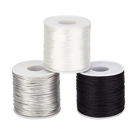 Arricraft Nylon Thread, Mixed Color, 2.5mm; about 35m/roll, 3 colors, 1roll/color, 3rolls