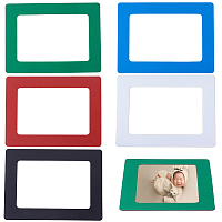 SUNNYCLUE Magnetic Picture Frames, for Refrigerator, Holds 5 Inches Photos, Mixed Color, 15.5x11.5x0.08cm; Inner Diameter: 11.6x7.7cm; 5colors, 1pc/color, 5pcs/set