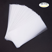 PandaHall Elite About 550-600Pcs Cello Cellophane Bags Acrylic Coated Crisp Treat Bag Gift Basket Supplies Size 15x7cm Crystal Clear