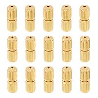 Brass Screw Clasps, Column, Golden, 10x4mm; 100pcs/box