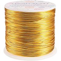 BENECREAT 12 17 18 Gauge Aluminum Wire (18 Gauge,492 FT) Anodized Jewelry Craft Making Beading Floral Colored Aluminum Craft Wire - Light Gold