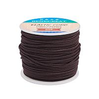 BENECREAT 2mm 55 Yards Elastic Cord Beading Stretch Thread Fabric Crafting Cord for Jewelry Craft Making (CoconutBrown)