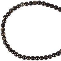 """NBEADS 1 Strand 14.7""""(37.5cm) Natural Golden Sheen Obsidian Beads Strand, 8mm Round Natural Stone Beads with 2mm Hole Loose Spacer Beads for DIY Bracelet Necklace Jewelry Making, 49 Pcs/Strand"""
