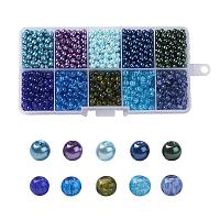 ARRICRAFT 4mm 1500pcs Round Baking Painted Crackle Glass beads and Glass Pearl Beads 10 Color Assorted Lot For Jewelry Making