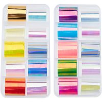 OLYCRAFT 20 Rolls Holographic Nail Foil Transfer Accessories Nail Foil Transfer Paper Laser Glass Paper Mixed Color Nail Foil Shiny for Nail Phone Shell Decoration 50cm/roll