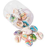 Arricraft 10 Style Flower Spiral Shell Beads, 30pcs Seashells Beach Seashells Cowrie Shells Charm Beads Charms for DIY Craft Jewelry Making