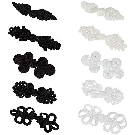 NBEADS 40 Pairs Chinese Closure Buttons, Knots Frog Buttons Closure Knots Sewing Buttons Fastener for DIY Sewing Coats Cheongsam Cloak Sweater