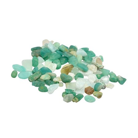 NBEADS 500g Natural Amazonite Chip Beads, No Hole/Undrilled, 2~8x2~4mm; about 8500pcs/500g