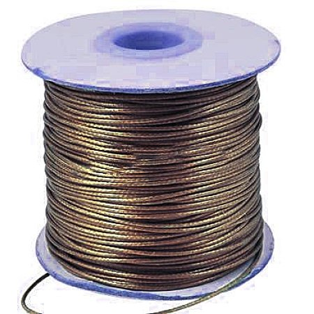 Nbeads 47yards/roll Korean Waxed Polyester Cord Beading Thread String for Jewelry Making Coconut Brown